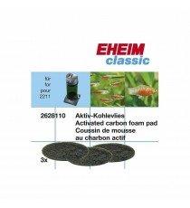 Almohadilla Esponja Carbón Activado para filtro Eheim Classic 150